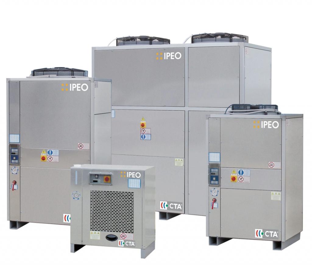 Groupes d'eau glacée à condensation par air – IPE – R410a        Puissance de 13 à 401kW